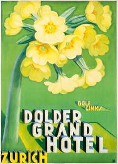 """Dolder Grand Hotel"" Original Swiss Vintage Travel Poster"
