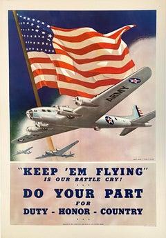 """'Keep 'Em Flying"" Do Your Part!'"" World War II Aviation poster"