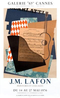 """J.M. Lafon Peintures et Collages - Galerie 65 Cannes"" Abstract Music Poster"