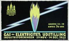 """""""Gas og Elektricitets Udstilling"""" Original Vintage Exhibition dPoster"""