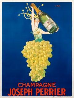 """Champagne Joseph Perrier"" Original Vintage Spirits Poster"