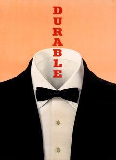 """Durable"" Original Vintage Fashion Poster"