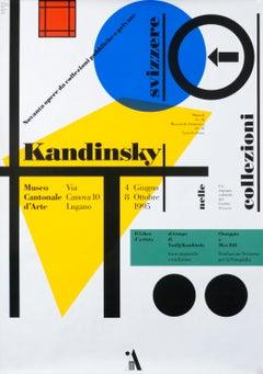 """Kandinsky - Museo Cantonale d'Arte"" Original Vintage Art Exhibition Poster"