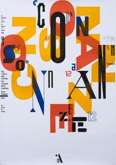 """Consonanze - Museo Cantonale d'Arte"" Original Vintage Art Exhibition Poster"