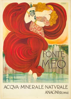 """Fonte Meo - Acqua Minerale"" Original Antique Poster"