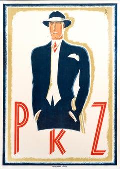 """PKZ"" Original Vintage Men's Fashion Poster"
