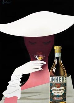 """Linherr Vermouth Bianco"" Vintage Original Aperitif Poster"