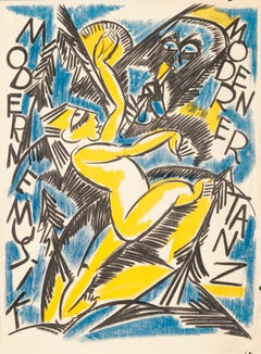 """Modern Musik Modern Tanz"" Original Vintage Expressionist Dance Poster 1920s"