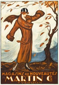 """""""Martin & Cie. - Magasins de Nouveautes"""" Original Vintage Poster"""