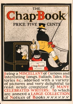 """The Chap-Book"" Original Vintage Chap Book American Magazine Cover"