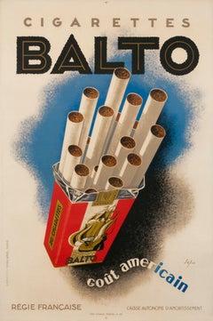 """Balto Cigarettes"" Original Vintage Cigarette Poster"