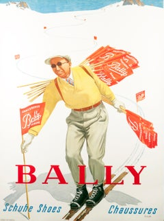 """""""Bally Schuhe Shoes Chaussures"""" Original Vintage Object Poster"""