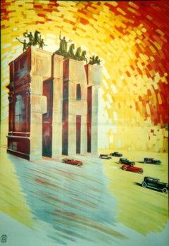 """""""Fiat"""" Original Vintage Automobile Poster 1920s"""