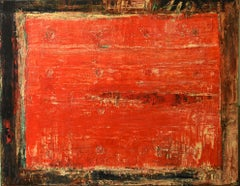 Untitled, Gonzalez Bravo, Contemporary Art, 2015, Oil on canvas, Orange, Red