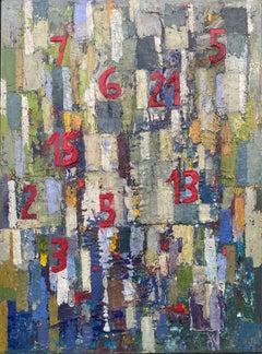 Jardins Desconhecidos, Nélio Saltão, Abstract Art, Oil on canvas, Blue