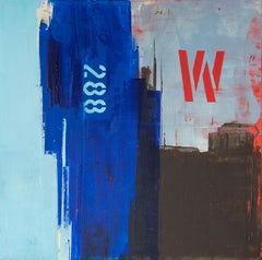 Untitled, Victor Costa, Contemporary Art, 2019, Acrylic on canvas, Blue and red