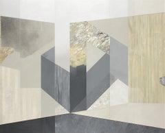 Precarious Equilibrium, 2020, Rui Tavares, Abstract Art, Mixed Media MDF, Grey