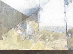 Open, 2019, Rui Tavares, Abstract Art, Contemporary, Mixed Media on MDF, Grey