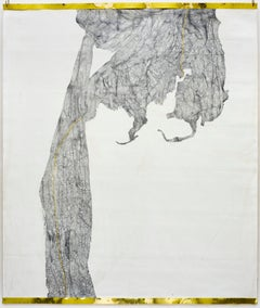 From the series Aging, Nettie Burnett, 2016-18, Graphite and gold leaf on canvas