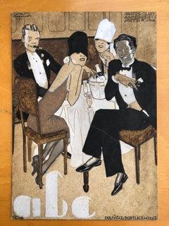 As Melhores Noites de Lisboa, Jorge Barradas, 1927, Watercolor drawing paper