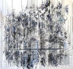 New York, Camille Bonneau, 2020, Contemporary Art, Mixed media on paper, Purple