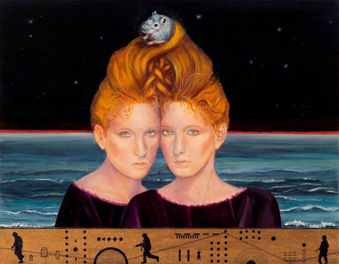 Map of Harmony, Margarida Kendall, 2007, Surrealism, Oil on carboard, Blue