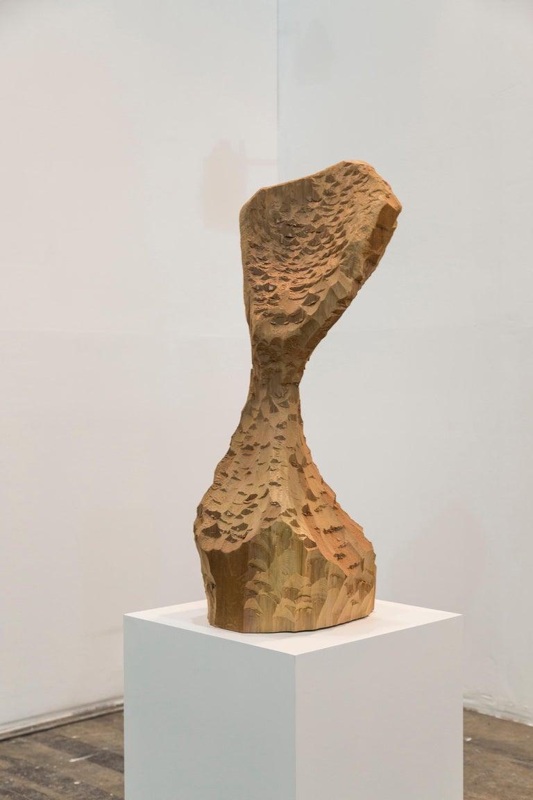 David Adamo Abstract Sculpture - Untitled (Wood 4)