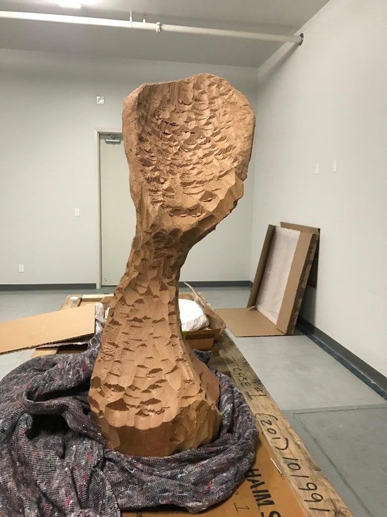 Untitled (Wood 4) - Sculpture by David Adamo
