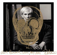 Gold Britannica Skull on Warhol, 2011