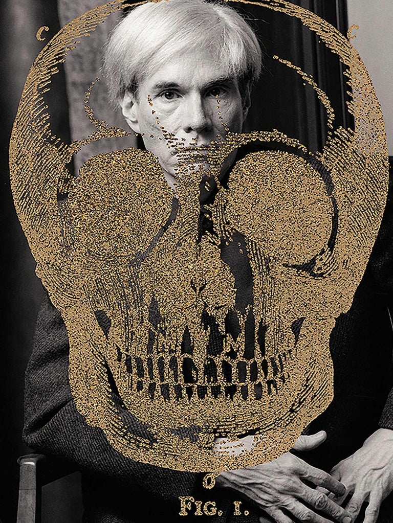 Gold Britannica Skull on Warhol, 2011 - Photograph by Karen Bystedt and Peter Tunney