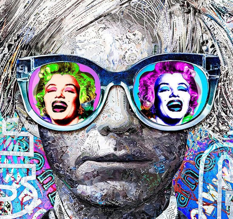 Andy Warhol, The Gamechanger - Mixed Media Art by Karen Bystedt and Brayden Bugazzi