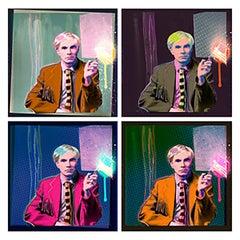 """""""Quad Andy Drip"""", Andy Warhol Portrait, 2015"""