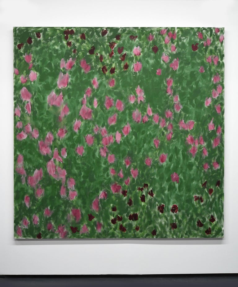 George McClancy (1930-2014) abstract pattern painting.   George McClancy received a MA in painting from Catholic University in Washington DC, where he was a student of Kenneth Noland. George McClancy was among the pioneer SoHo artists in Manhattan
