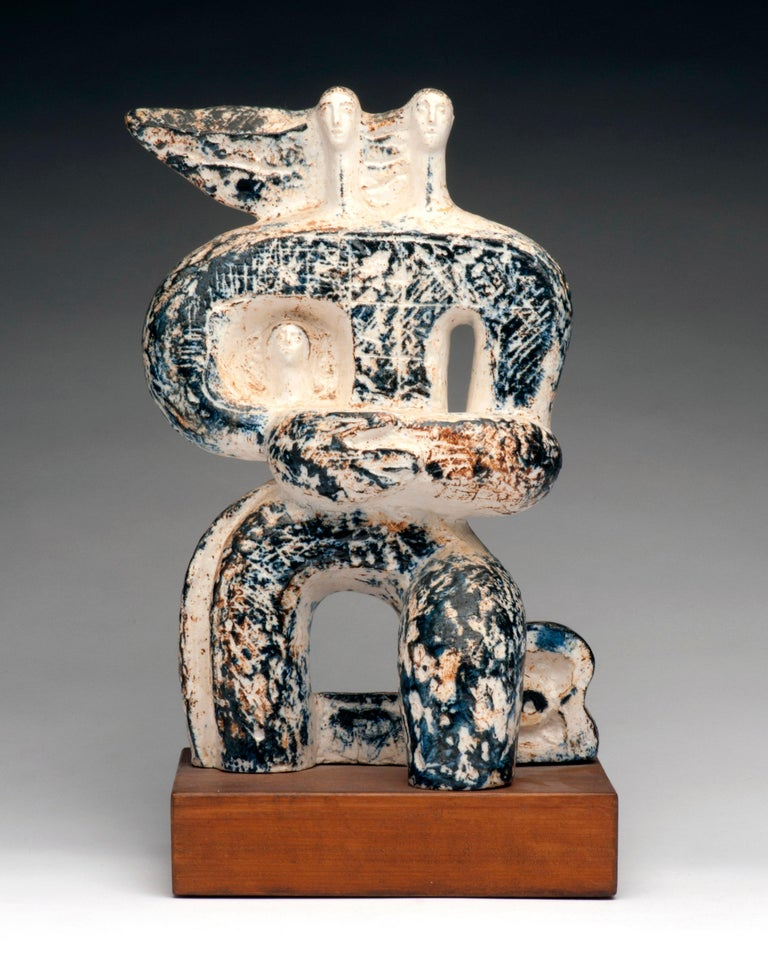 Striking Art Deco sculpture by Arnold Geissbuhler (Swiss, 1897-1993). Sculpture is signed on reverse. Condition is excellent.     Arnold Geissbuhler was associated with some of the best known artists of the 20th century including Alberto Giacometti,