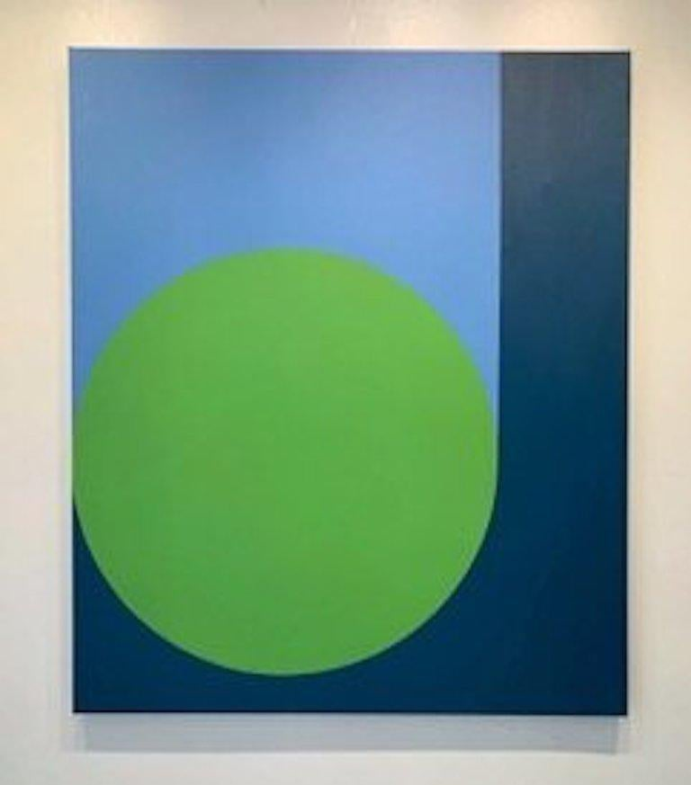 Scoop with Spring Green, 40x52, acrylic on canvas