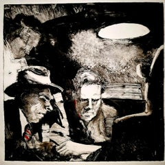 Asphalt Jungle, black and white, interior, crime scene, narrative