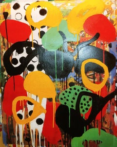Racy, colorful abstraction Neo- African