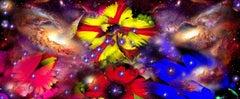 Gardens & Galaxies: Trio 2020, bright colors, abstract interpretation of nature