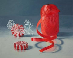 Red Spirals, colorful, superrealism, photorealism