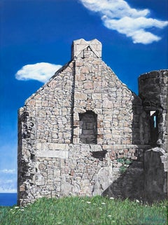 Slains Castle with North Sea 2, stone ruins, seascape