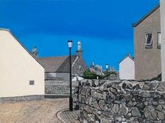 Roanheads Scotland 2, oil on birch panel, rural arcitecture
