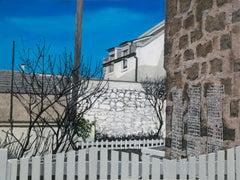 Roanheads Scotland 3, oil on birch, rural architecture