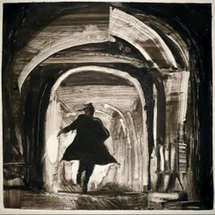 The Third Man, black and white, night, cityscape, dramatic, narrative