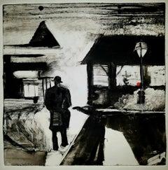 The Killers, black and white city scape, surrealistic, narrative