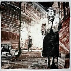 Third Man 3, night, city scape, monochromatic, narrative
