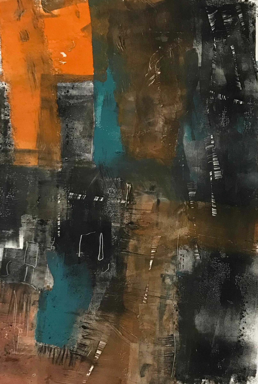 Night Walk, abstract