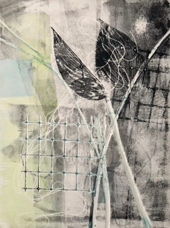 Still Life, abstact monotype, nature