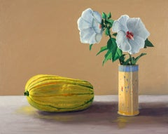 Rose of Sharon, super realism, colorful, flowers, food, still life