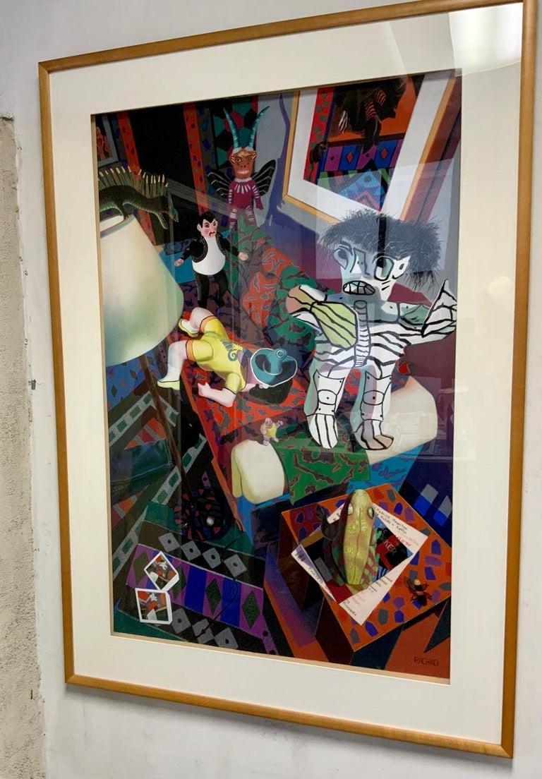 Works  Her pastel-on-sandpaper series,