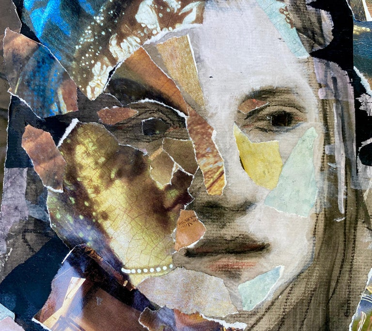 Vermeer Tapestry, collage with classical elements - Art by Audrey Anastasi